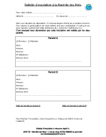 Bulletin d'inscription 2020